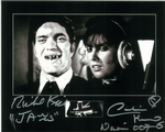Richard Kiel and Caroline Munro Genuine autograph 10x9